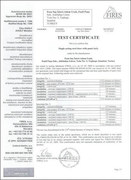 FEZA YANGIN TEST RAPORU - 2